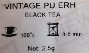 Pu'erh is Dark Tea but not Black Tea in English